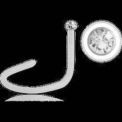bioflex jewelled nose screw 1.5mm clear gem