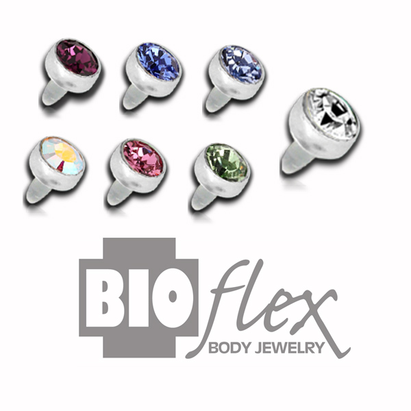 Bioflex Pushfit Jewelled Bead
