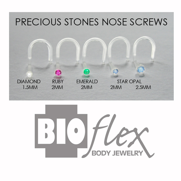 Bioflex Precious Stones Nose Screws